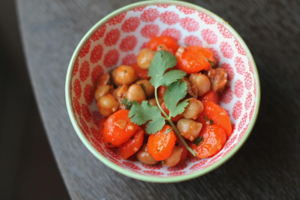 Carrot and Chickpea Salad with Harissa
