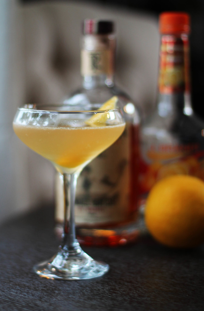 Updated Classic- Rye Whiskey Sidecar with Sweet Meyer Lemon Juice. Perfectly refreshing for spring! #sidecar #classiccocktails #speakeasy #meyerlemon #rye #whiskey