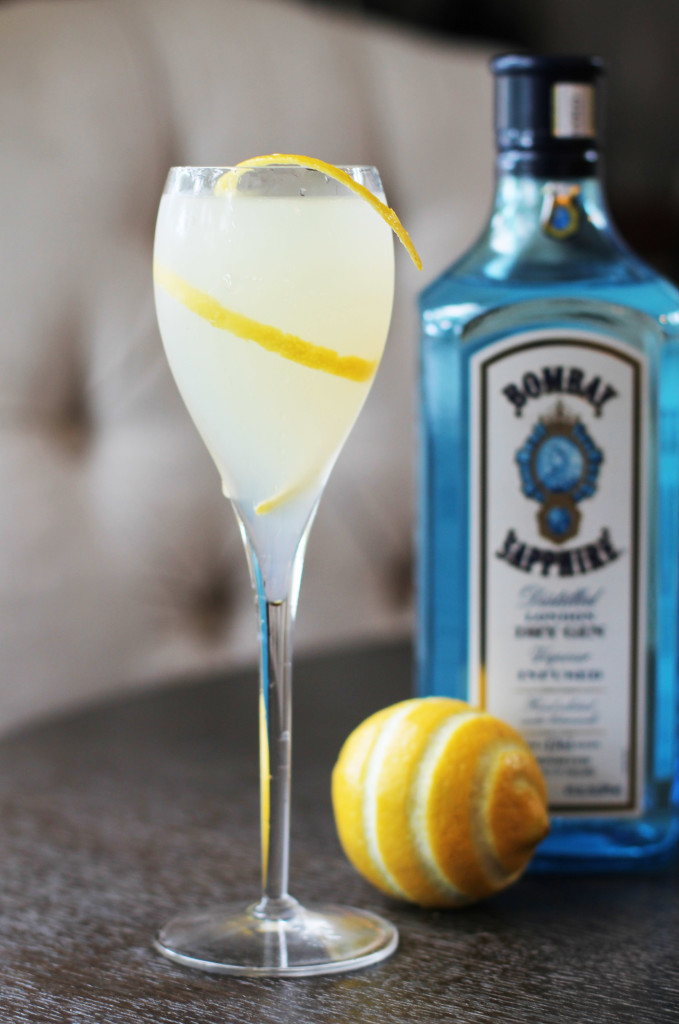 The French 75- a classic champagne and gin cocktail. Perfectly refreshing for summer!