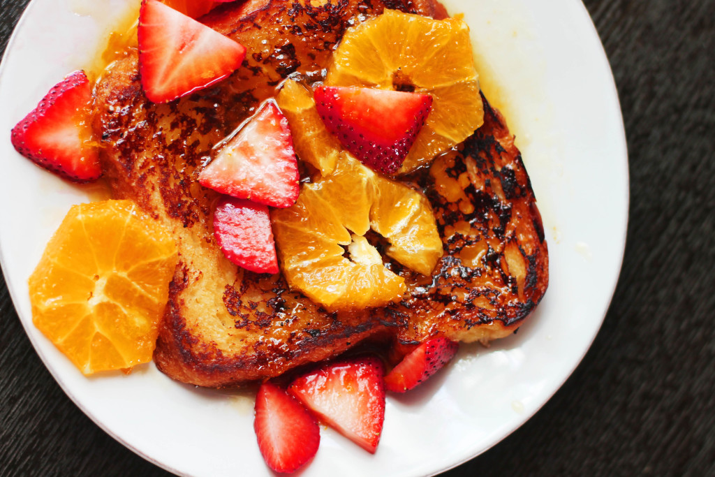 Amazing recipe for brioche french toast with the most perfect buttery, orange-y, grand marnier-y sauce! I've died and gone to heaven.