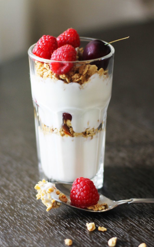 Make your own cute little fruit and yogurt parfaits!