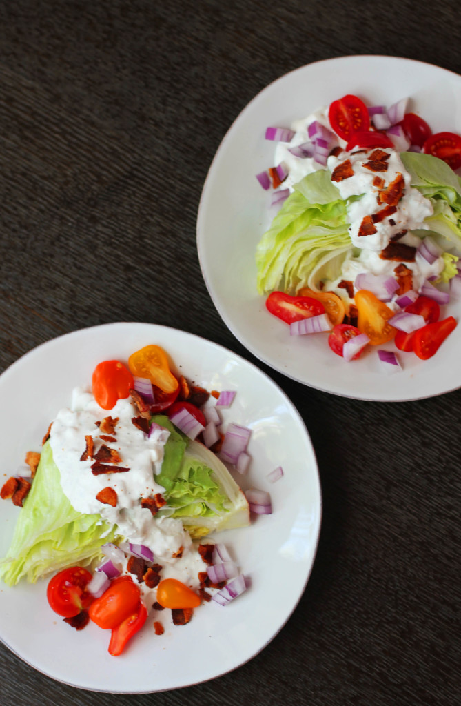 "Make your own ""retro-style"" blue cheese wedge salad. Recipe for the perfect blue cheese dressing."
