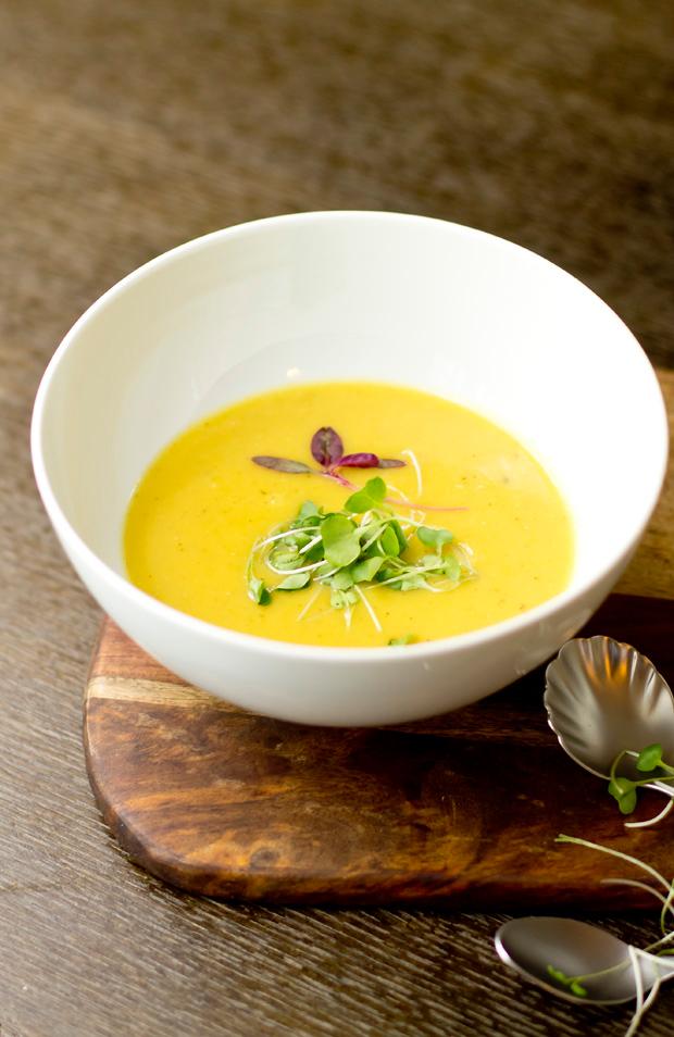 Creamy and delicious Spiced Delicata Squash Soup