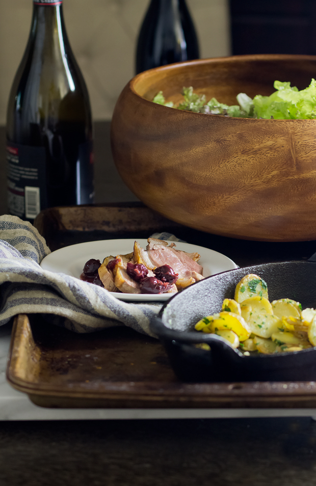 Duck Breast with Cherry Sauce - THE GOURMET GOURMAND