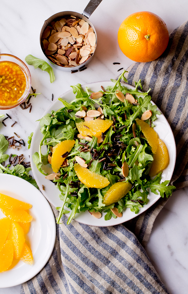 Arugula Wild Rice Salad with Orange - THE GOURMET GOURMAND