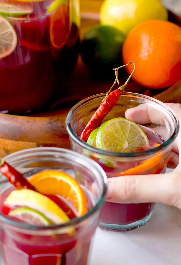 Spicy Citrus Sangria- thegourmetgourmand.com