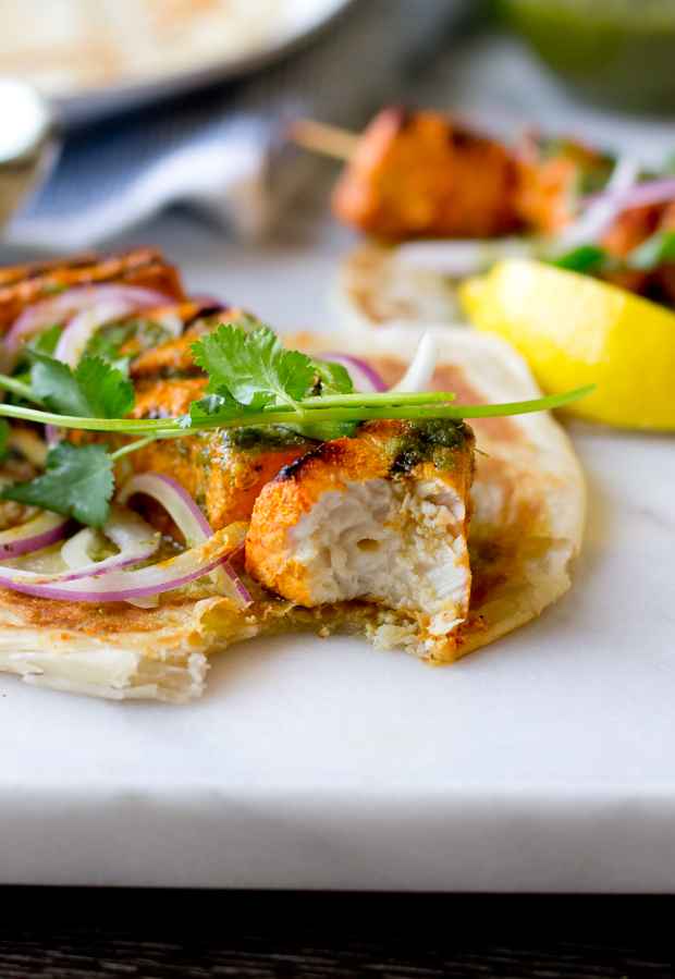 Tandoori Swordfish Wrap - THE GOURMET GOURMAND