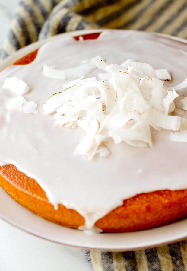 Coconut Rum Cake - thegourmetgourmand.com