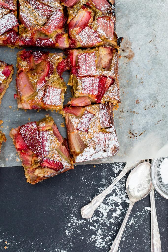 The Brick Kitchen Strawberry Rhubarb Pistachio Bars