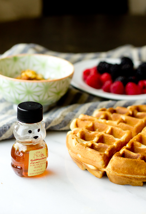 Brown Butter Waffle with Yogurt and Fruit - thegourmetgourmand.com