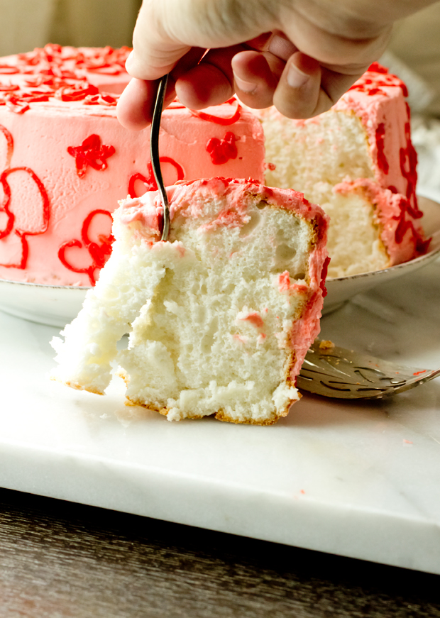 Mother's Day Angel Food Cake - thegourmetgourmand.com