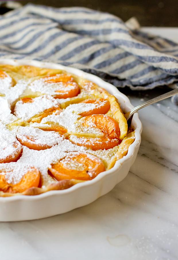 Apricot Flaugnarde -thegourmetgourmand.com