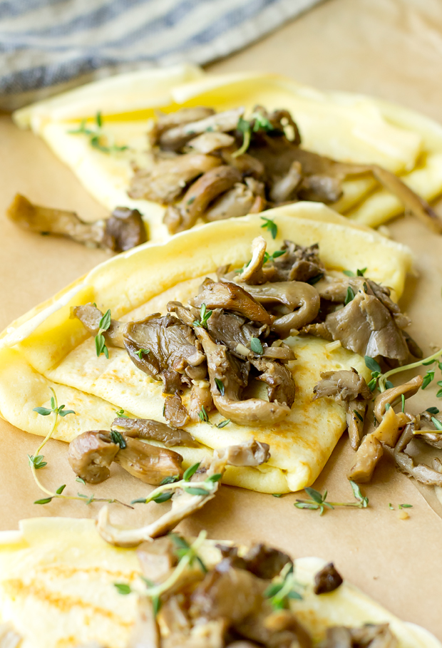 Crepes with Gruyere and Wild Mushrooms - thegourmetgourmand.com