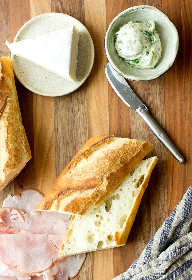 Ham and Brie Baguette- thegourmetgourmand.com