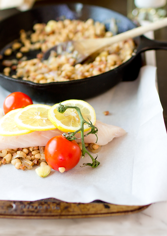Cod and White Beans en Papillote - thegourmetgourmand.com