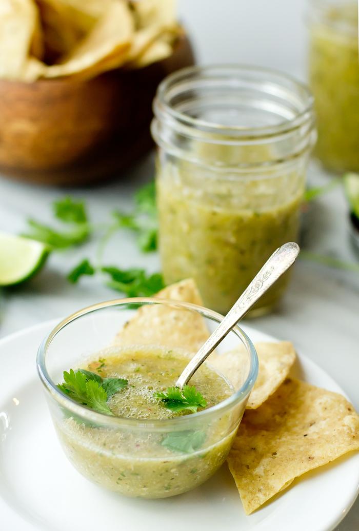 Roasted Salsa Verde - thegourmetgourmand.com