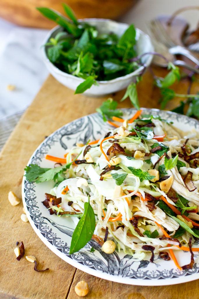 Vietnamese Chicken Salad side view