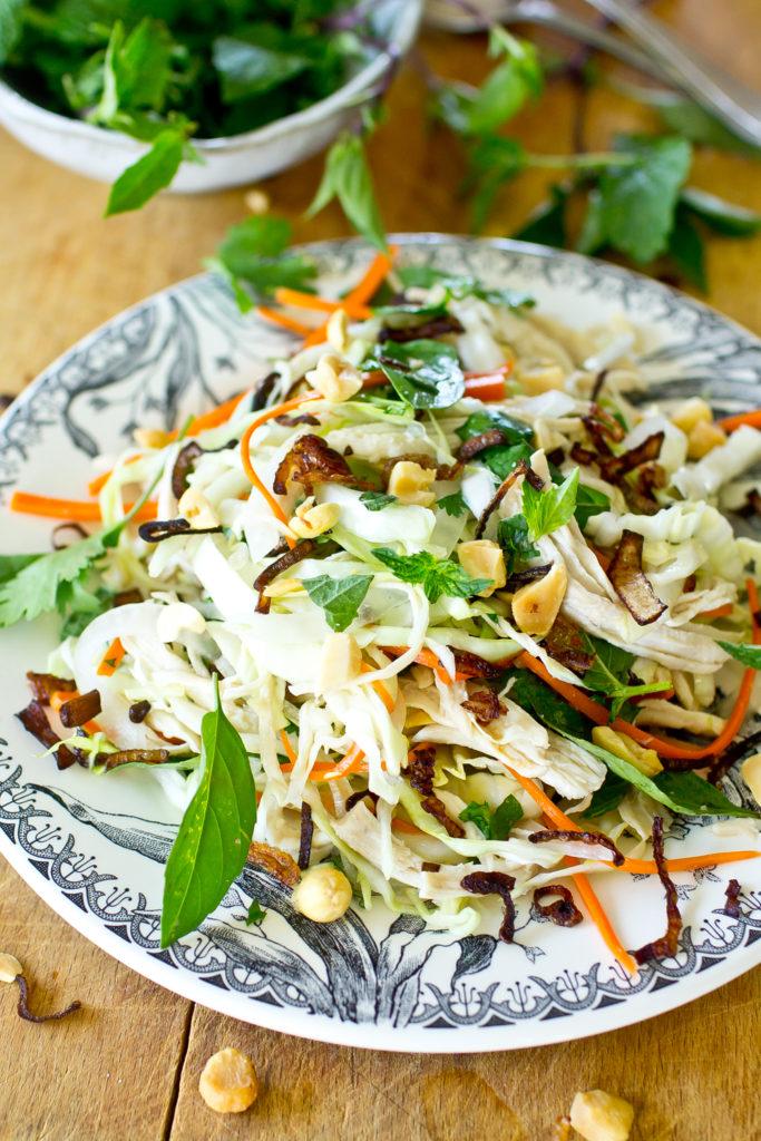 Vietnamese Chicken Salad close up