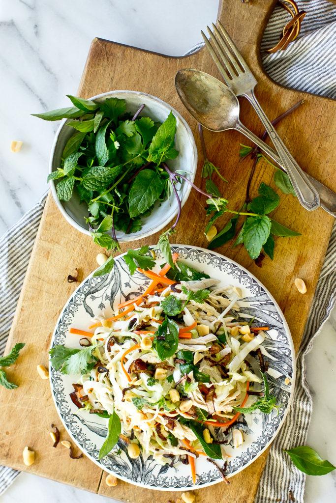 Vietnamese Chicken Salad top down view