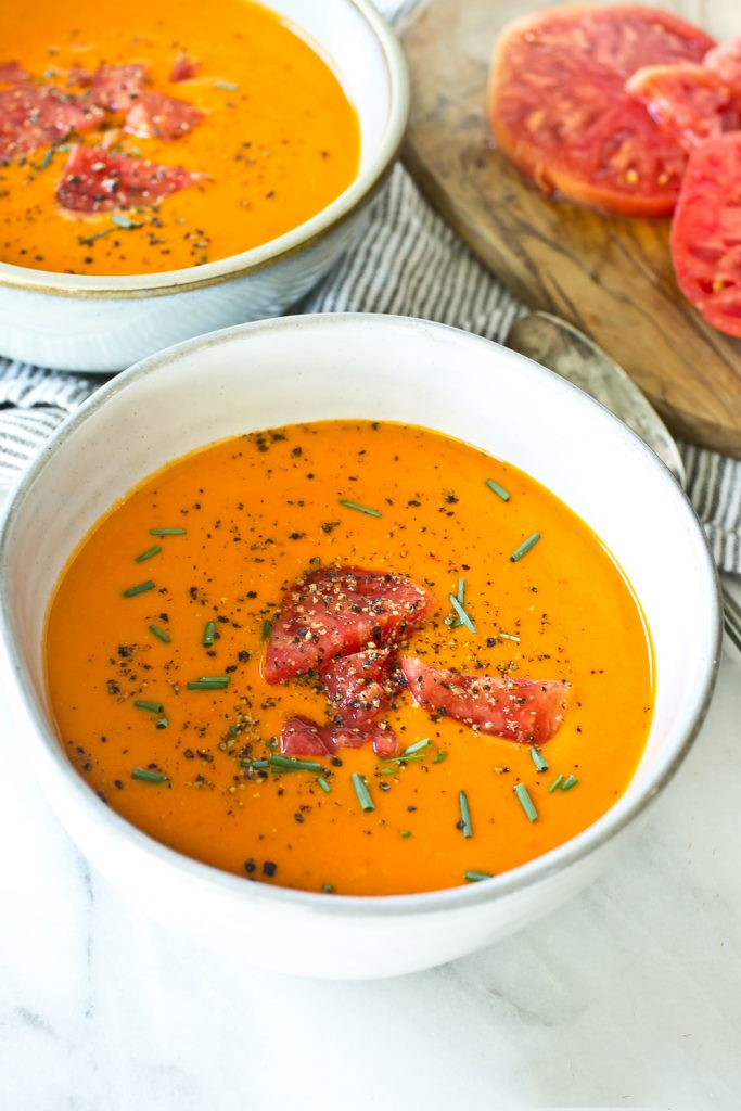 Garden Heirloom Tomato Soup top angled view