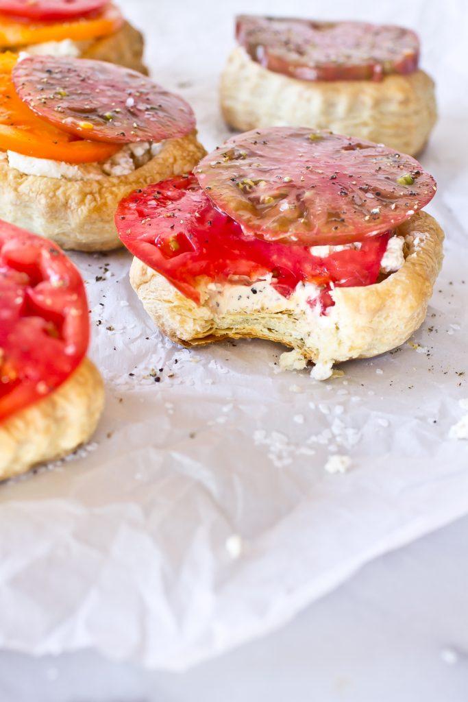 Fresh tomato tart with boursin